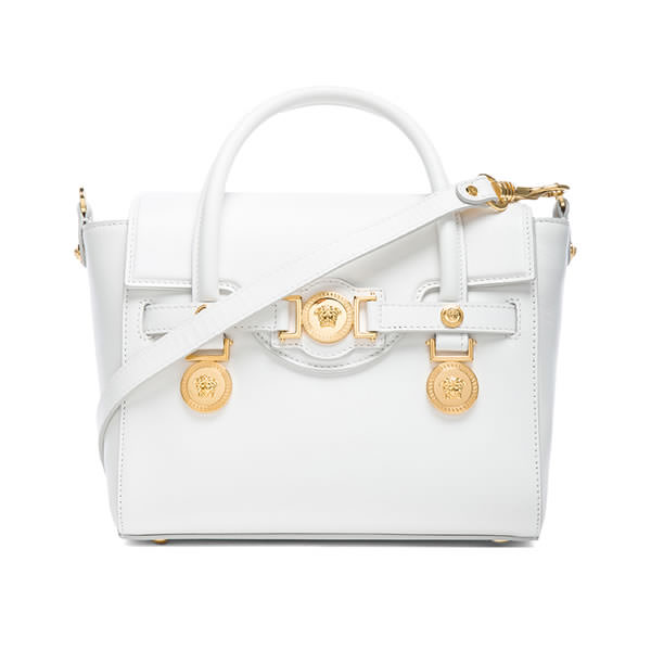 Versace Signature small white satchel