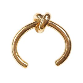 Céline gold knot cuff as seen on Rihanna