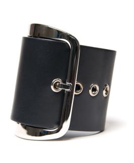 Givenchy wide buckle cuff as seen on Rihanna