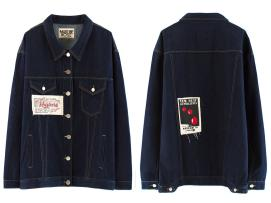 Martine Rose oversized denim jacket as seen on Rihanna