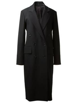 BLK DNM double breasted crepe coat as seen on Rihanna