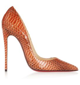 Christian Louboutin So Kate watersnake pumps as seen on Rihanna