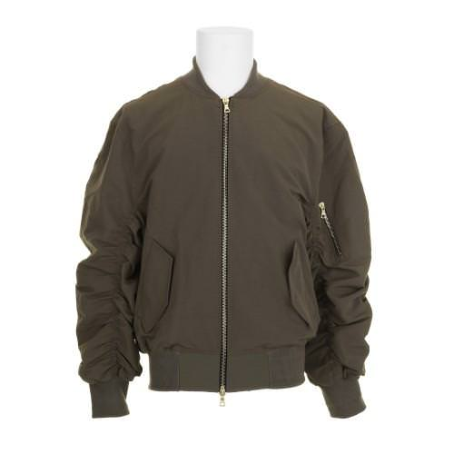 Fear of God olive bomber jacket as seen on Rihanna