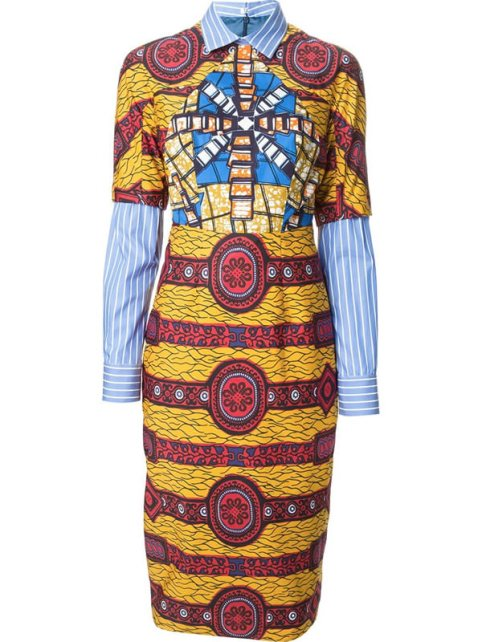 Stella Jean Barbara layered print dress as seen on Rihanna