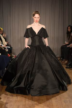 Zac Posen Fall/Winter 2014 black gown as seen on Rihanna