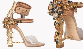 DSquared2 Virginia jewel-embellished sandals as seen on Rihanna