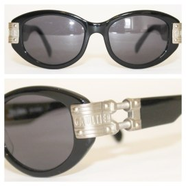 Jean Paul Gaultier vintage sunglasses with metallic detail at temple as seen on Rihanna