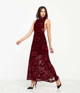Reformation Perseus dress in Juliet burnout velvet as seen on Rihanna