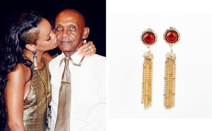 Koree's Closet ruby tassel earrings
