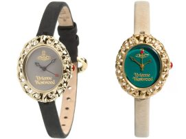 Vivienne Westwood Rococo leather watches as seen on Rihanna