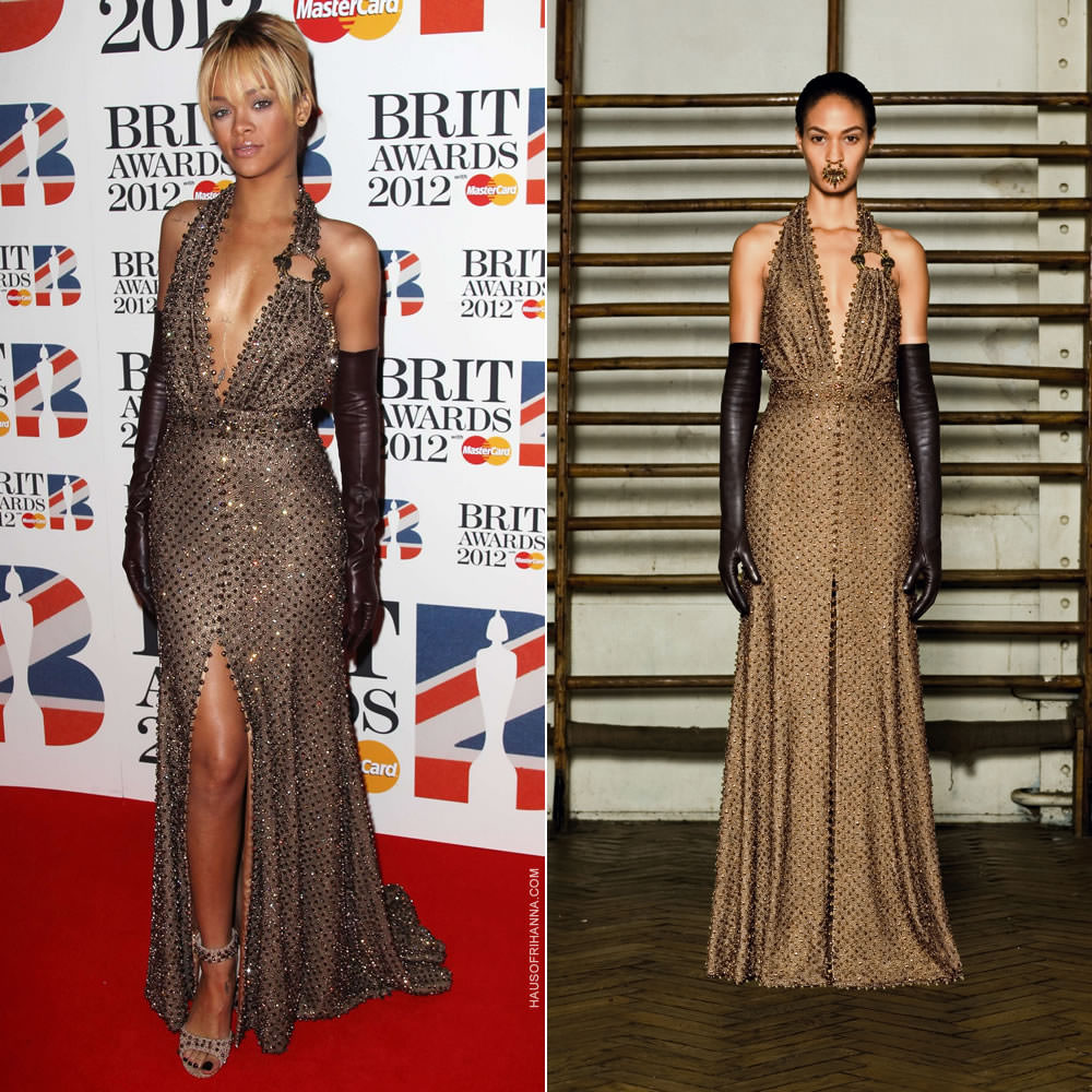 2ea92522e6e6 I originally posted about this look in 2012 but there was a woeful lack of  information so let's revisit it here. At the 2012 Brit Awards Rihanna was  styled ...