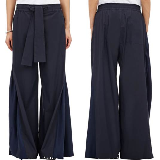 Acne Studios Eddiese wide leg pants as seen on Rihanna