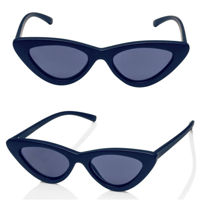 Adam Selman x Le Specs The Last Lolita sunglasse in matte navy as seen on Rihanna