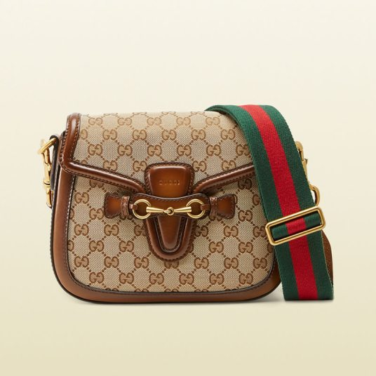 Gucci original GG canvas Lady Web handbag as seen on Rihanna