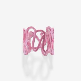 Repossi White Noise fuchsia ring as seen on Rihanna