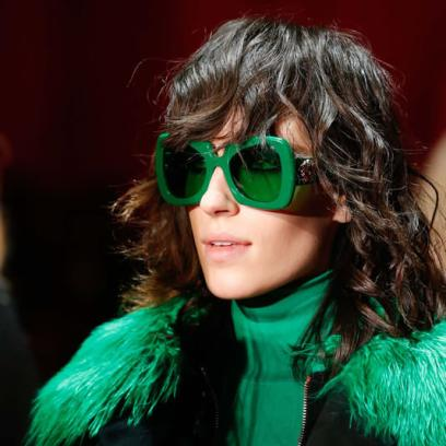 Versace Fall 2015 green sunglasses as seen on Rihanna