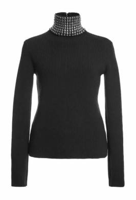 Alexander Wang Fall 2015 studded turtleneck sweater as seen on Rihanna