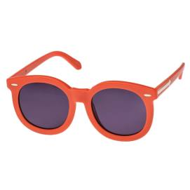 Karen Walker Super Worship orange round frame sunglasses as seen on Rihanna