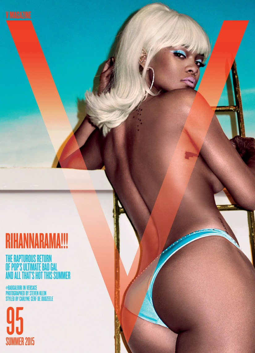 Rihanna on the cover of V Magazine V95 summer 2015 issue