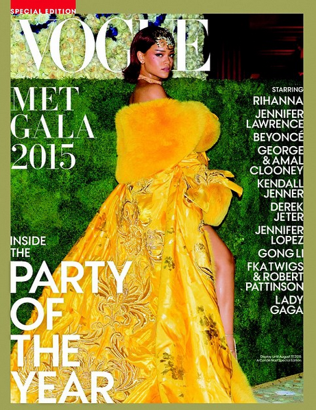 Rihanna Vogue Met Gala Special Edition magazine cover 2015