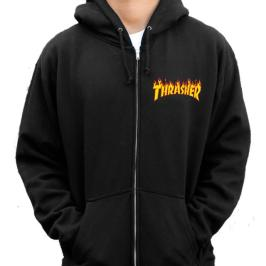 Thrasher flame logo hoodie as seen on Rihanna
