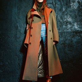 Vetements Fall 2015 coat as seen on Rihanna