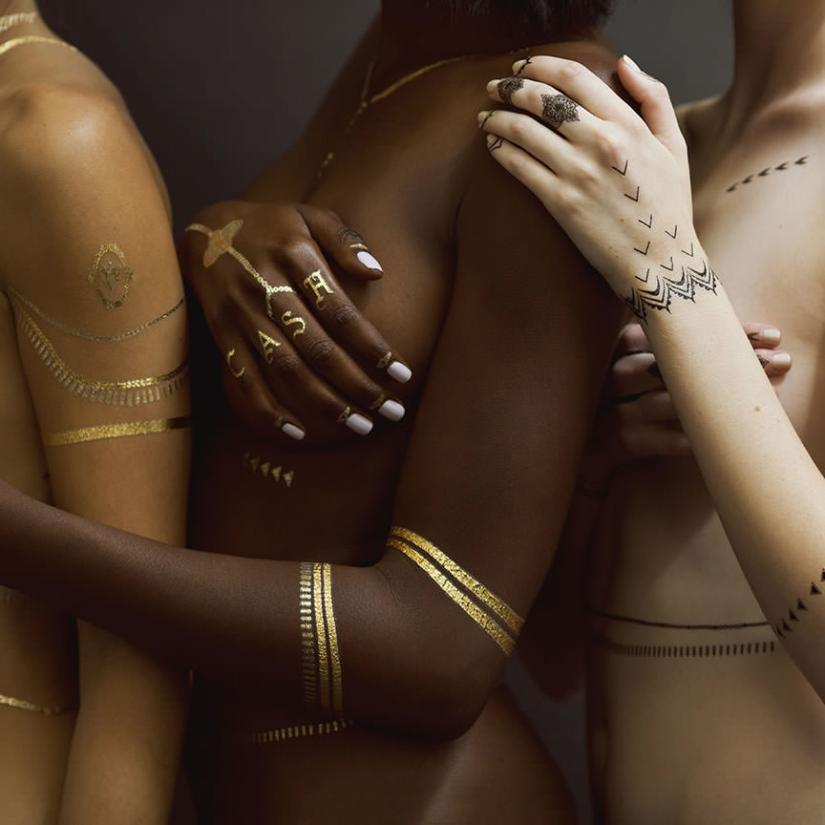 Rihanna x Jacquie Aiche temporary flash tattoos