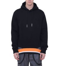 Givenchy hooded sweatshirt with striped hem as seen on Rihanna