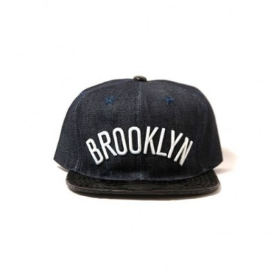 Mitchell and Ness x Just Don Brooklyn Nets denim hat as seen on Rihanna