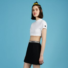Kiko Mizuhara white cropped t-shirt as seen on Rihanna
