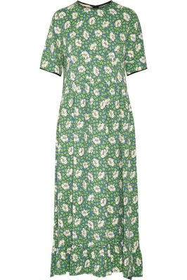 Marni floral print green dress as seen on Rihanna