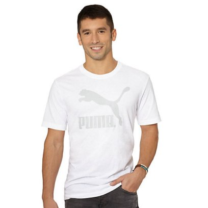 Puma No. 1 logo t-shirt in white as seen on Rihann