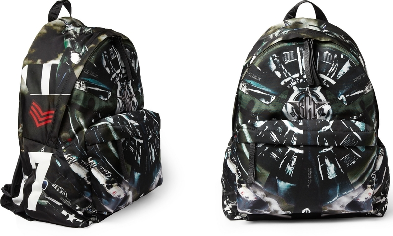 Givenchy airplane-print backpack as seen on Rihanna