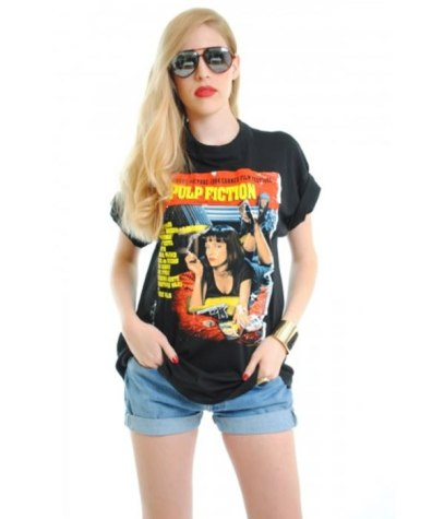 Pulp Fiction t-shirt as seen on Rihanna