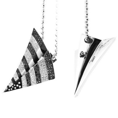 Rafaello and Co Roc Nation logo pendant necklace as seen on Rihanna