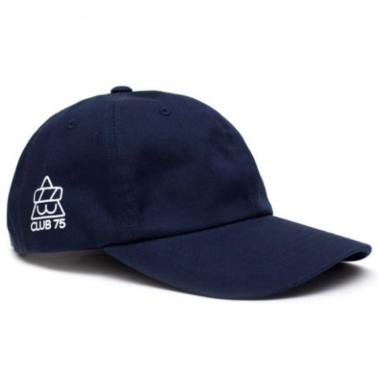 Club 75 Club Cat curved cap in navy as seen on Rihanna