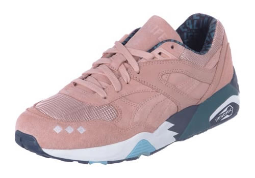 Puma x ALIFE R698 pink Trinomic sneakers as seen on Rihanna