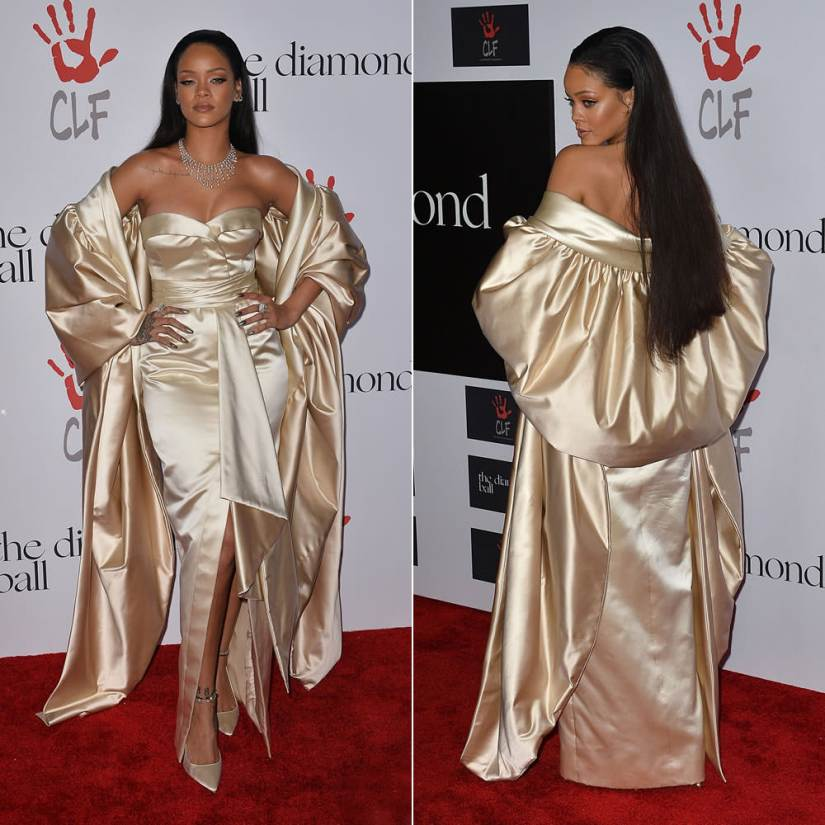 rihanna diamond ball dior dress 2015