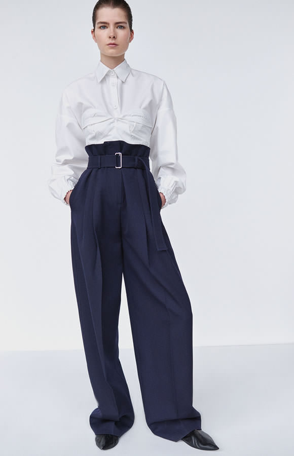 Céline Resort 2016 belted high-waisted trousers as seen on Rihanna