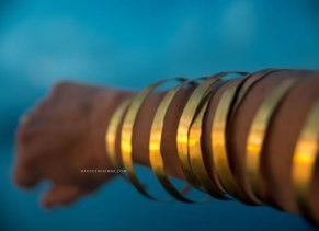 Lisa Eisner bronze hammered spiral coil bracelets as seen on Rihanna