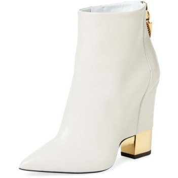 Giuseppe Zanotti white Ester ankle boot as seen on Rihanna