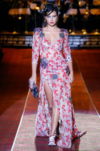 Marc Jacobs Spring 2016 daisy embroidered dress as seen on Rihanna