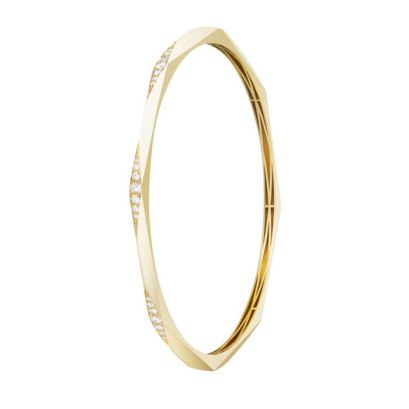 Melissa Kaye 18k yellow gold Josephine bangle as seen on Rihanna