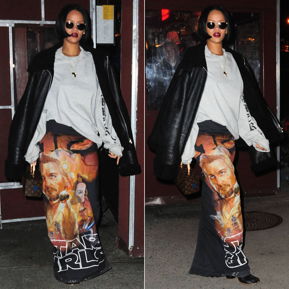Rihanna In Vetements Star Girls Skirt Haus Of Rihanna