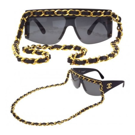 Chanel vintage chain-embellished sunglasses as seen on Rihanna