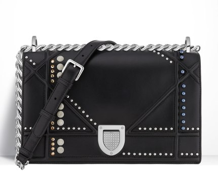 Christian Dior Cruise 2016 studded Diorama handbag as seen on Rihanna