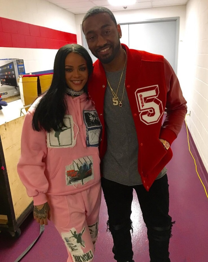 Rihanna Left Hand pink Darkwood patch hoodie and sweatpants, Fallon Monarch Bandana choker