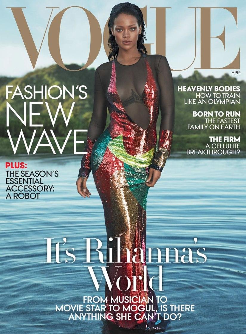 Rihanna Vogue US April 2016 magazine cover
