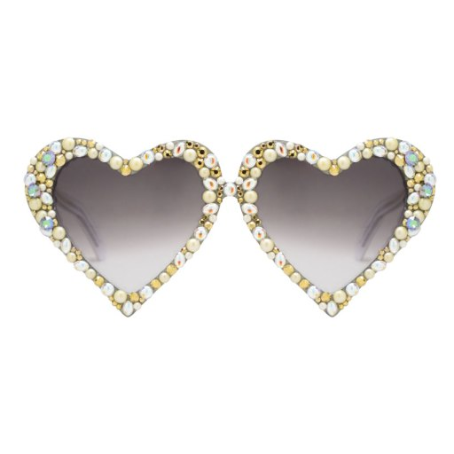 A-Morir crystal-embellished Emma heart-shaped sunglasses as seen on Rihanna