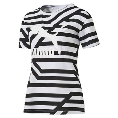 Puma AOP striped t-shirt as seen on Rihanna